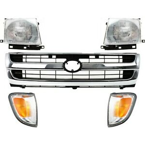 Grille Assembly Kit For 1997 2000 Toyota Tacoma Rwd 2wd 5pc