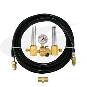 Smith Dual Precision Series Flowmeter regulator With Gas Hose kit