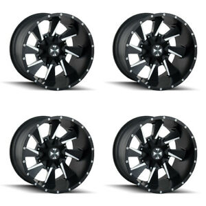 Set 4 20 Cali Offroad 9106 Distorted Black Milled Rims 20x9 6x5 5 Gmc 6 Lug