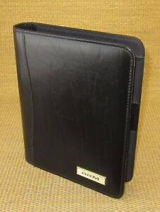 Classic desk 1 Rings Black Leather Day timer Open Planner binder Franklin 99
