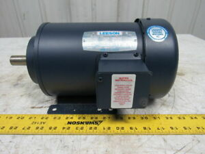 Leeson 113702 00 C6t34fz13b Electric Motor 2 Hp 50 60hz 3450 Rpm H90s Frame