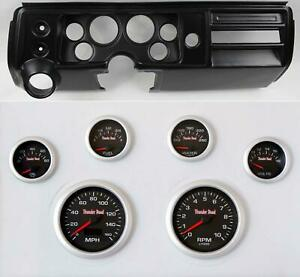 68 Chevelle Black Dash Carrier W 3 3 8 Concourse Series Black Gauges