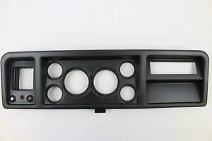 73 79 Ford Trucks Black Dash Carrier Panel For 3 3 8 2 1 16 Gauges
