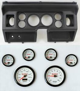 80 86 Ford Truck Black Dash Panel W White Face Electric Gauges