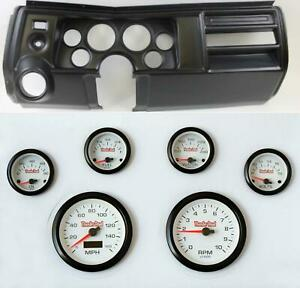69 Chevelle Black Dash Carrier W 3 3 8 Concourse Series White Gauges