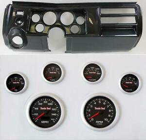 69 Chevelle Carbon Dash Carrier W 3 3 8 Concourse Series Black Gauges