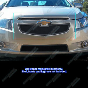 Fits 2011 2014 Chevy Cruze Black Mesh Grille Grill Insert