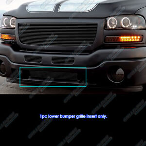 For 2003 2004 Gmc Sierra 2500 2003 Sierra 1500 2500hd Black Bumper Billet Grill