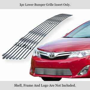 Fits 2012 2014 Toyota Camry Lower Bumper Billet Grille Gill Insert