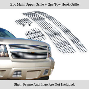 For 2007 2014 Chevy Tahoe Suburban Avalanche Billet Grille Grill Insert Combo