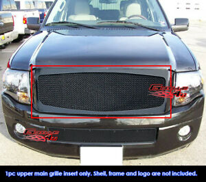 For 2007 2014 Ford Expedition Black Stainless Steel Mesh Grille Grill Insert