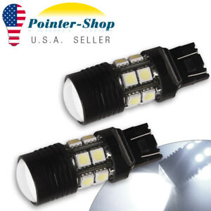 2x 6000k White 7443 7440 High Power 7w Turn Signal Backup Reverse Led Light Bulb