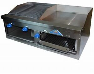 Comstock castle Fhp48 2rb 24b Griddle Charbroiler Gas Countertop