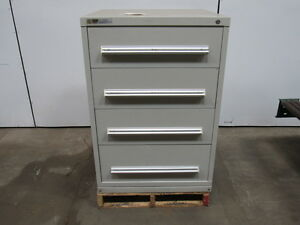 Stanley Vidmar 4 Drawer Cabinet 30 w X 28 d X 44 Tall 27 1 2 X 9 1 2 Fronts