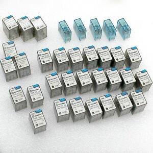 Lot 30 Finder Relays 24vdc Coil 5a 10a 250vac Contacts 55 32 55 34 40 52