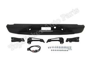 Black Rear Step Bumper For 1999 2006 Chevrolet Silverado gmc Sierra New