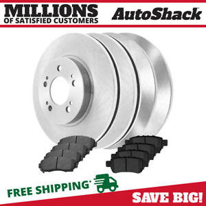 4 New Front And Rear Brake Rotors And 8 Ceramic Pads Fits 05 10 Honda Odyssey