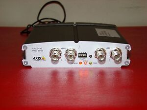 Axis 241q Video Server 4 Channel Cctv Ip Network Encoder With Ps k Power Adapter
