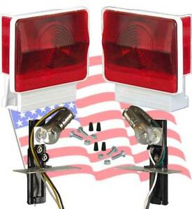 Boat Utility Trailer Submersible Tail Lights Dry Launch 702w Pair