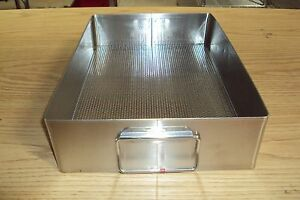 Stainless Steel Sterilization Tray Surgical Basket Sterile 15 X 10 1 2 X 3 1 2