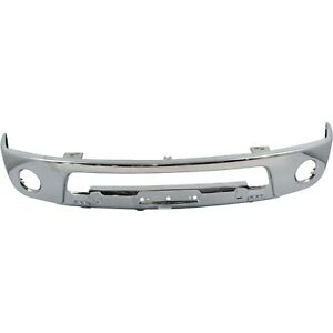 Front Lower Bumper For 09 2010 Nissan Frontier Le Chrome Steel W Fog Light Hole