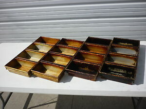 Bakery Bread Strap Pans Lot 4 4 strap 10 Loaf Loaves Chicago Metallic 91 4
