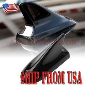 Us Black Shark Fin Style Dummy Antenna Aerial Roof Decor For Honda Civic Accord