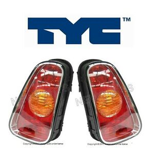 For Mini R50 R53 Cooper Pair Set Of Left Right Taillight Assemblies Tyc