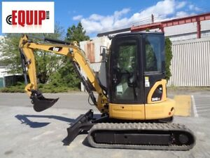 2012 Caterpillar 304dcr Mini Excavator Auxiliary Hydraulics Enclosed Cab