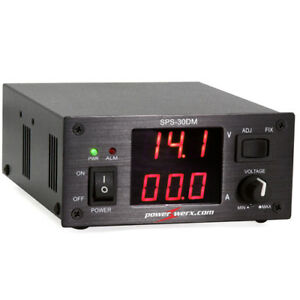 Powerwerx Variable 30 Amp Desktop Dc Power Supply With Digital Meters Sps 30dm