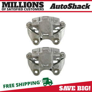 New Rear Pair Brake Calipers W 1 Piston For 04 14 Gmc Chevy Cadillac Truck Suv
