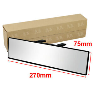 Auto Car 270mm Wide Flat Interior Clip On Universal Rear View Mirror