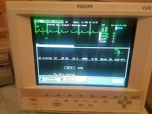 Philips v24e patient monitor With Co2