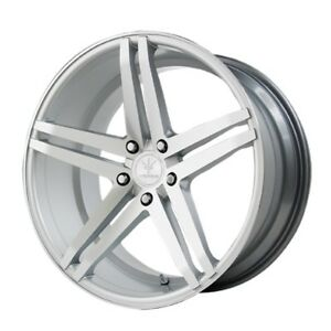 20x9 10 Verde Parallax 5x120 35 42 Silver Rims Wheels New 4