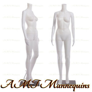 Female Display Mannequin stand Manequin Dressform White Plastic Manikin fb 7w