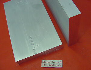 2 Pieces 1 1 2 X 4 Aluminum 6061 Flat Bar 5 Long T6511 Solid Plate Mill Stock