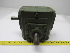 Ohio Gear 175 a Right Angle Double Shaft Speed Reducer Gear Box 5 1 Ratio