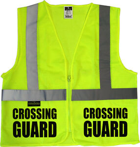 Crossing Guard Mesh Vest Traffic Safety Vest School Safety Municipal Safety