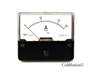 Ac 0 30a Analog Current Panel Meter