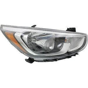 Headlight For 2015 2016 Hyundai Accent Sport Passenger With Bulb s