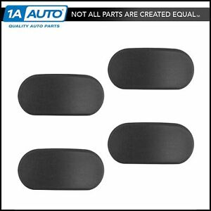 Oem Oval Side Step End Cap Black Textured Plastic Set Of 4 For Gm Truck New