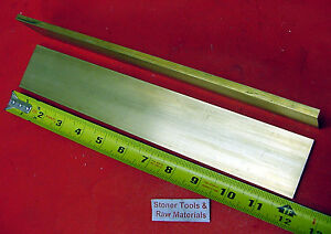 2 Pieces 1 4 X 2 C360 Brass Flat Bar 12 Long Solid 25 Mill Stock H02