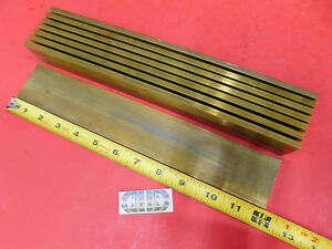 8 Pieces 1 4 X 2 C360 Brass Flat Bar 12 Long Solid Mill Stock H02 25 x 2 00