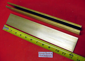 3 Pieces 1 4 X 2 C360 Brass Flat Bar 12 Long Solid 250 Mill Stock H02