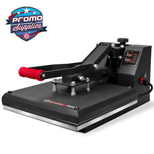 Heat Press T shirt Heat Transfer Sublimation Machine 15 X 15 Clamshell Black