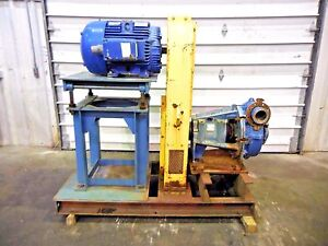 Rx 3620 Metso Hm150 Fhc d 6 X 4 Slurry Pump W 75hp Motor And Frame