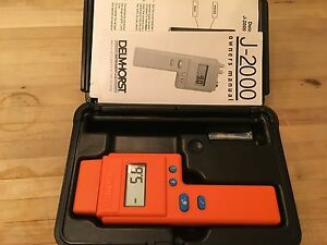 Delmhorst J 2000 6 To 40 Pin Digital Wood Moisture Meter New In Case