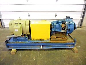 Rx 3642 Metso Hm100 Lhc d 4 X 3 Slurry Pump W 40hp Motor And Frame