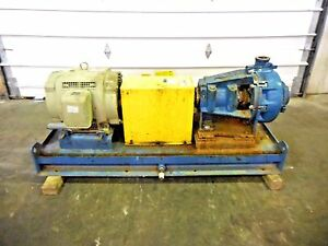 Rx 3643 Metso Hm100 Lhc d 4 X 3 Slurry Pump W 40hp Motor And Frame