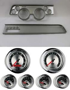 67 68 Cougar W ac Silver Dash Carrier W Auto Meter American Muscle Gauges